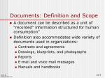 documents definition and scope