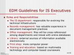 edm guidelines for is executives