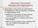 electronic document management applications