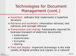 technologies for document management cont1