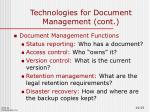 technologies for document management cont2