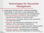 technologies for document management