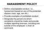 harassment policy