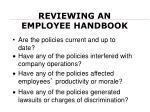 reviewing an employee handbook
