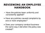 reviewing an employee handbook1