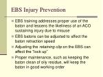 ebs injury prevention