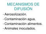mecanismos de difusi n