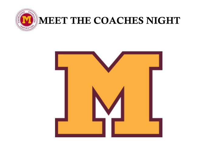 meet the coaches night n.