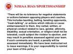 njsiaa bias sportsmanship