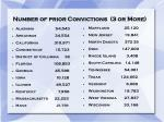 number of prior convictions 3 or more