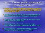 goal 3 promote gender equality and empower women