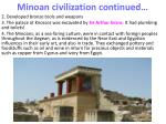 minoan civilization continued