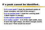 if a peak cannot be identified