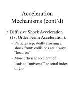 acceleration mechanisms cont d