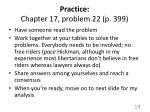 practice chapter 17 problem 22 p 399