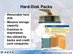 hard disk packs