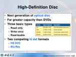 high definition disc