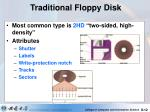 traditional floppy disk