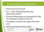spreading europtimism