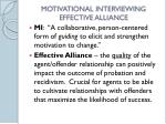 motivational interviewing effective alliance