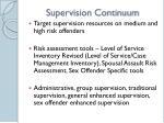 supervision continuum