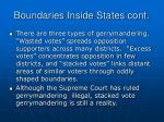 boundaries inside states cont