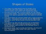 shapes of states