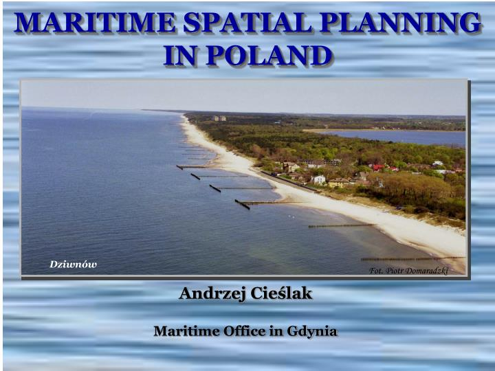 maritime spatial planning in poland n.