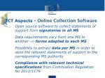 ict aspects online collection software
