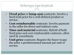 beberapa tipe kontrak