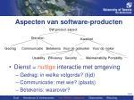 aspecten van software producten