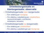 ontwikkelorganisatie en klantorganisatie observatie