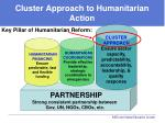 cluster approach to humanitarian action