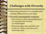 challenges with diversity