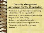 diversity management advantages for the organization