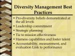 diversity management best practices