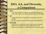 eeo aa and diversity a comparison