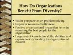 how do organizations benefit from diversity