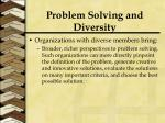 problem solving and diversity