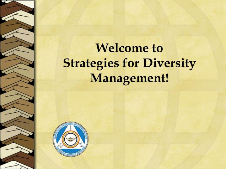 welcome to strategies for diversity management n.