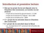 introduction et premi re lecture