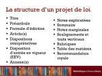 la structure d un projet de loi