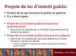 projets de loi d int r t public