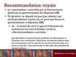recommandation royale