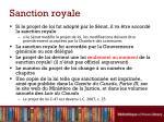 sanction royale