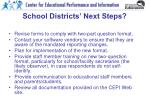 school districts next steps