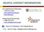 helpful contact information