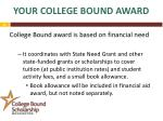 your college bound award