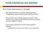 your financial aid award