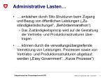 administrative lasten